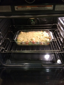 It looks a little better in the oven.